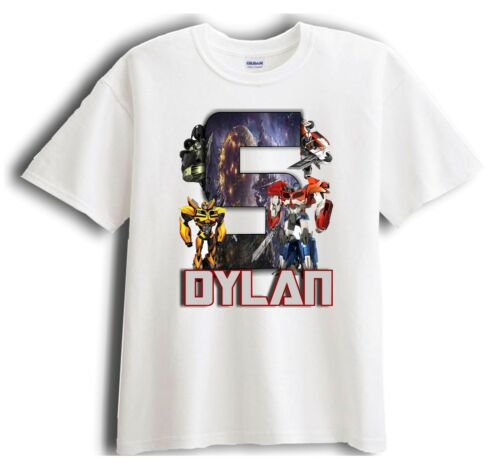 Birthday T-Shirt Party Favor Transformer Prime Personalized