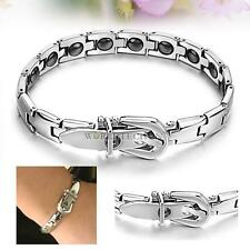 Fashion Women 16 Grains Magnetic Therapy Stainless Steel Bracelet Gs977
