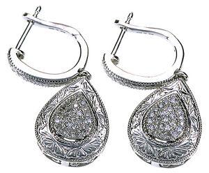 Affinity-Diamond-Sterling-Silver-Engraved-Drop-Dangle-Earrings
