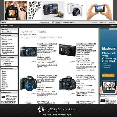 Camera & Photo Website FREE Domain Name Automated Amazon Affilliate Adsense