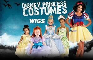 Disney-Princess-Fancy-WIG-Costume-Dress-Up-Hair-Halloween-Play-Head-Wear-NEW