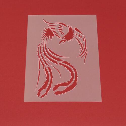 Schablone Wandschablone Vogel Phönix Mythologie Phoenix - MT67