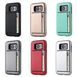 Titolare-della-carta-ARMOR-Shockproof-Hard-Case-Cover-per-Samsung-S8-amp-S8-S7-A7-J5-note5