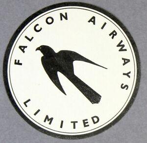 FALCON-AIRWAYS-VINTAGE-ORIGINAL-AIRLINE-LUGGAGE-LABEL-BAGGAGE-BAG