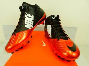 NIB5 Mens Nike Vapor Speed Mid 3/4 TD Football Cleats 643155 800 U.S. Size 10