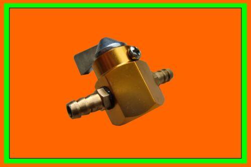 Benzin Absperrhahn Metall 6mm gelb Benzinhahn Roller Mofa Honda Moped Tank