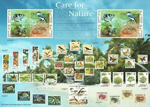 SINGAPORE-2000-WETLANDS-WILDLIFE-KINGFISHER-OTTER-FISH-amp-FIDDLER-CRAB-SHEET