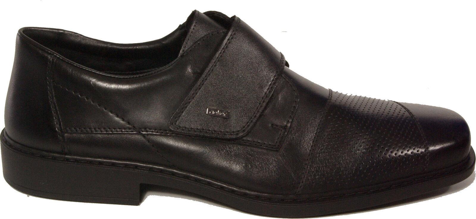 Rieker Chaussures Basses pantoufles Business noir en cuir cuir cuir véritable fermeture velcro neuf | De Nouvelles Variétés Sont Introduites L'une Après L'autre  edfce2