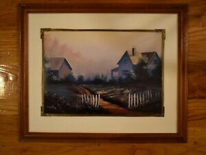 Framed-Matted-Farm-House-Limited-Edition-Art-Print-Signed-and-Numbered-no-7-XL