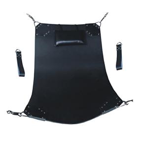 Genuine Black Leather sling heavy duty sex swing sling adult play hammock