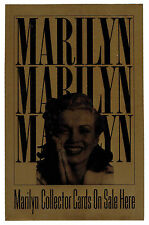 """1993 Marilyn Monroe Collector Cards Dealer Store Window Decal 5 1/2""""x 8 1/2"""""""