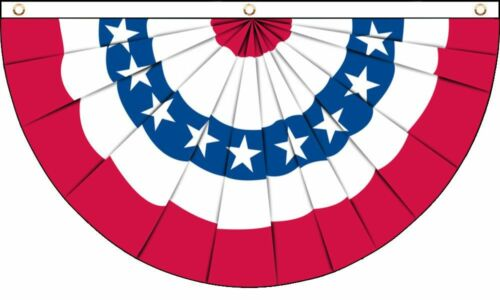5x3 Usa Bunting STARS /& STRIPES DRAPEAU 3x5 soutien Patriotique USA UNITED STATES