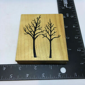 Late Autumn Winter Trees Rubber Stamp by DOT