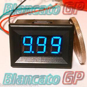MICRO VOLTMETRO WATERPROOF DC 3.50-30.0V LED blu digitale auto moto camper