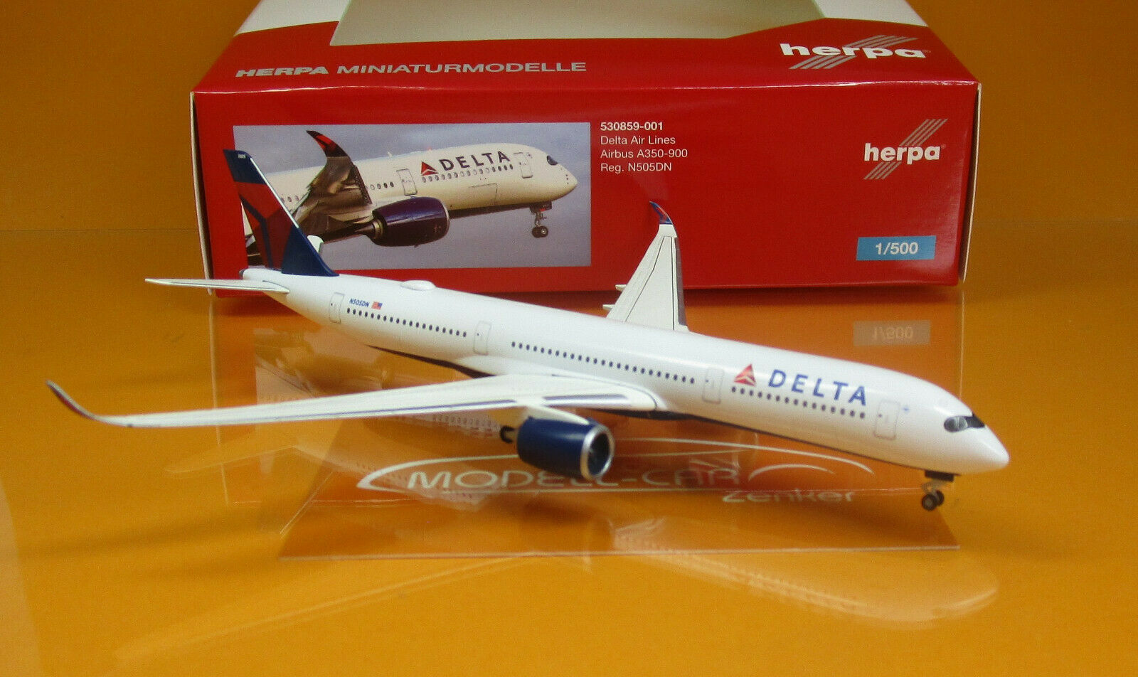 Herpa Wings 530859-001 A350-900 Delta Air Lines Scale 1 500 NEU OVP  | Hochwertige Produkte