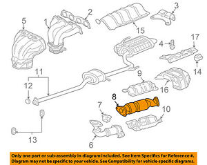 2007 honda accord 2 4 exhaust diagram wiring circuit \u2022 1998 honda accord exhaust system honda oem 05 07 accord 2 4l l4 catalytic converter 18160raaa11 ebay rh ebay com 2003 honda accord v6 exhaust diagram 1998 honda accord parts diagram