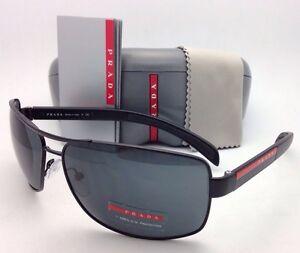 2d753567e9 New Authentic PRADA Sunglasses SPS 54I 1BO-1A1 65-14 Matte Black w ...