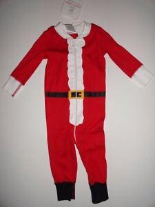 NWT Hanna Andersson 60 cm 6-9 Christmas Santa Organic Pajamas One ... 5f3a25b05