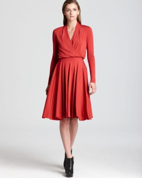 Derek Lam Lam Lam 10 Crosby Red Matte Jersey Faux Wrap Dress Size 8 NWT 0eaee3