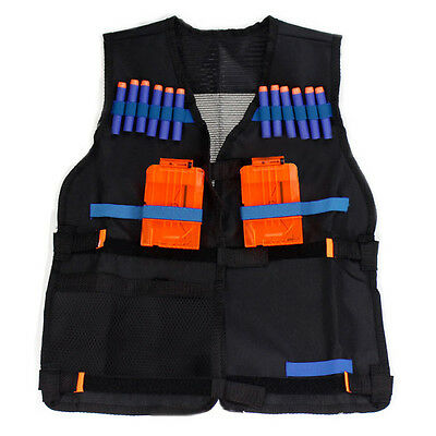 Elite Tactical Vest Kids Gun Foam Dart Clip Holder Waistcoat Jacket Fit For Nerf