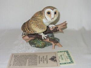 Barn Owl Hamilton Collection Maruri Majestic Owl Night Vtg