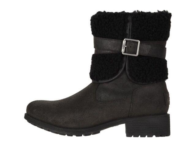 c299180e020 UGG Women's Blayre III Waterproof Leather BOOTS 1095153 Black Size 7