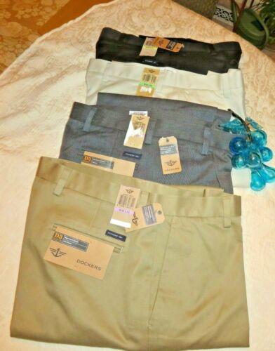 DOCKERS Mens Signature Khaki Pants D3 Classic Fit Individual Fit Waist NWT $58