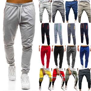 Men-039-s-Sport-Joggers-Pants-Sweatpants-Tracksuit-Bottoms-Casual-Harem-GYM-Trousers