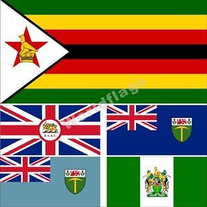 Bandera de Zimbabue 3X5 3X6FT histórico británico BSAC Rodesia del Sur Nyasalandia