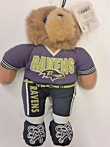 0923e33c Details about NFL Baltimore Ravens Stuffed Teddy Bear Football Player  Ornament, New