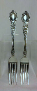 "Fork VIOLET Wallace Sterling Silver Flatware No Monogram 7-1//4/"" s"