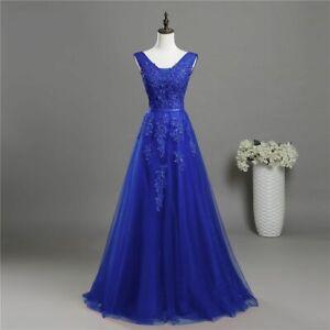 Abiti Donna Da Sera.Abito Vestito Donna Da Cerimonia Elegante Taglie Comode Blu Royal
