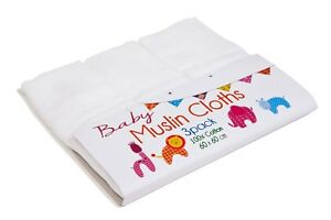 3-Pack-Baby-Muslin-Squares-100-Cotton-Bib-Burp-Cloth-Cooking-60x60cms