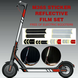 Details about For Xiaomi Mijia M365 Electric Scooter Styling Set PVC  Reflective Stickers