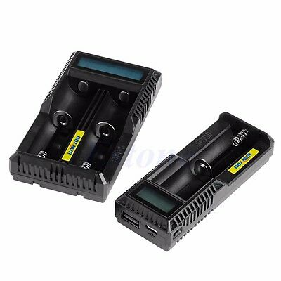 LCD Display Intelligent 18650 14500 16350  AA AAA Li-ion USB Battery Charger New