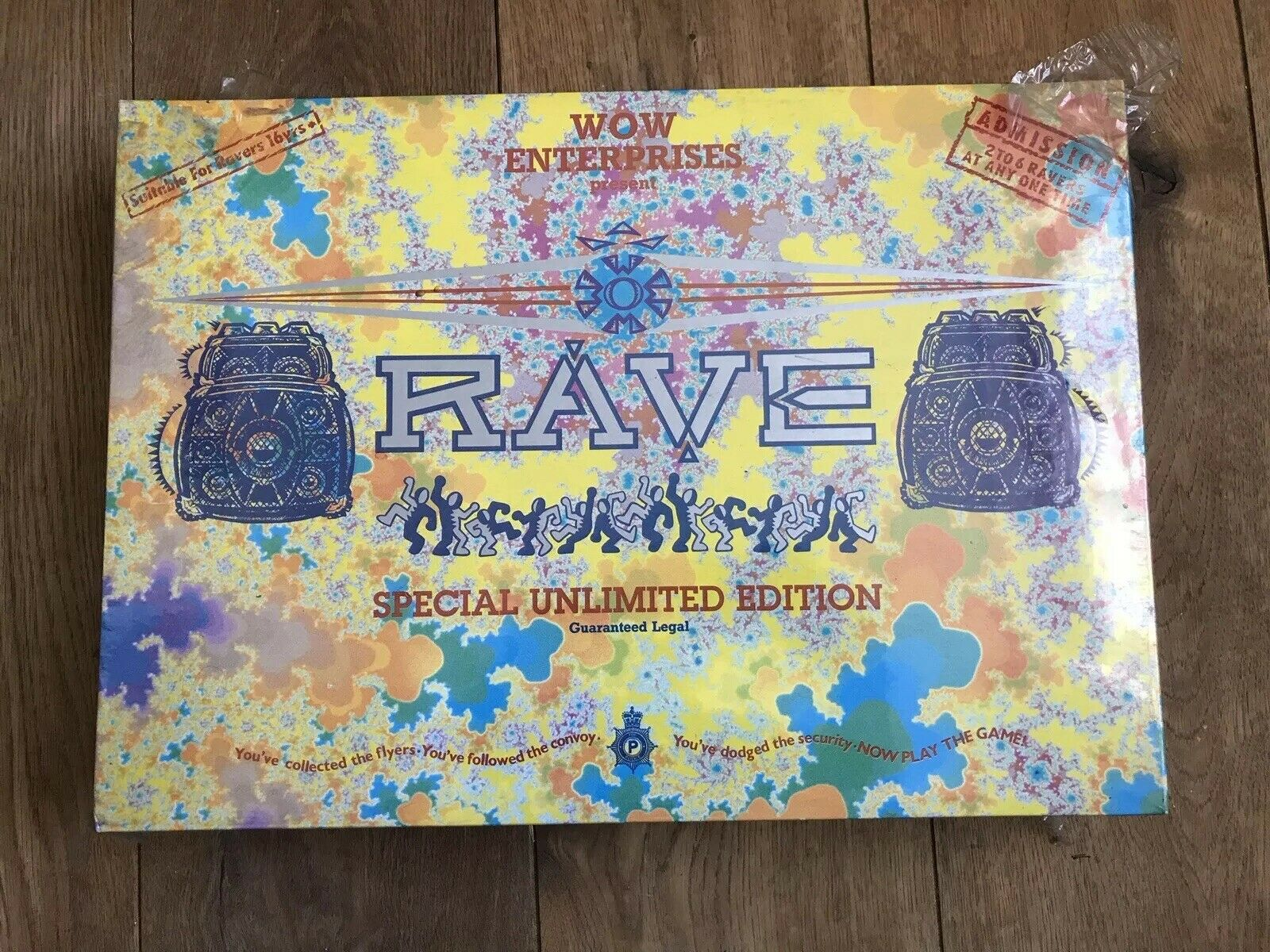 Still Sealed Rave Board Game Special Edition - Old Skool Ravers 1991 - Rare Find
