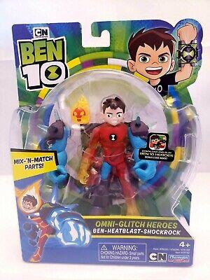 BEN 10 Basic Action Figure NEW Omni-Glitch Heroes Ben-Heatblast-Shockrock