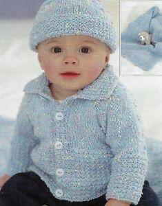 a5e661971b4 Image is loading 1715-Baby-Boy-Girl-DK-Jacket-Hat-amp-