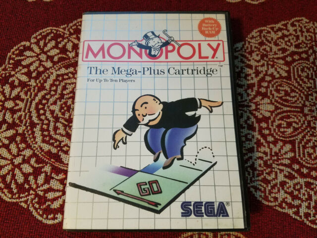 Monopoly - Authentic - Sega Master - Case / Box Only!