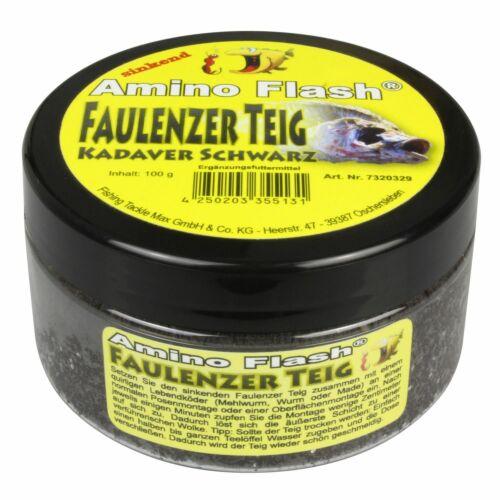 """4,69€//100g FTM Amino Flash Faulenzer Teig /""""Kadaver/"""" 100g Angelteig Forellentei"""