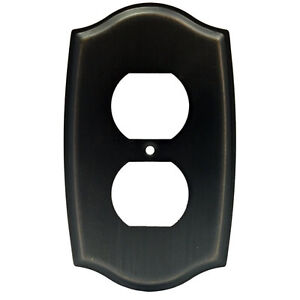 oil rubbed bronze receptacle outlet wall plate. Black Bedroom Furniture Sets. Home Design Ideas