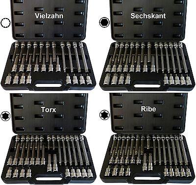 Steckschlüsselsatz (+15%) Vielzahn XZN, Torx, Innen-Sechskant, Ribe Keilnut, Bit