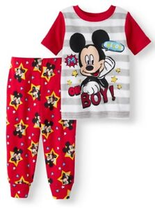 08f04d09f DISNEY BABY Boys  Mickey Mouse Short Sleeve 2pc Pajamas - Blue or ...