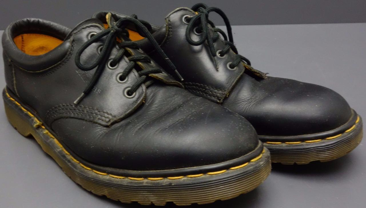 Men Dr Martens Air Wair Black Leather Lace Up Oxford Lug Sole shoes England US 11