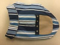 Scooter's Friends Dog Sleeveless Coat Blue/white Striped 10