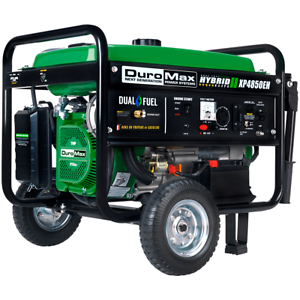 DuroMax XP4850EH 4,850-Watt Dual Fuel Hybrid Generator w/ Electric Start