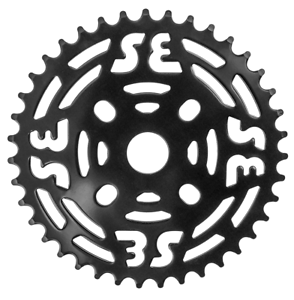 SE Racing Bikes monobloc en acier 39 T Black chainring