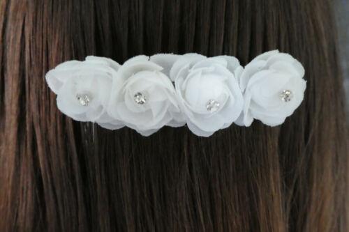 Kommunion Fest Taufe Feier Haarspange Haarschmuck Kopfschmuck 4 Blumen