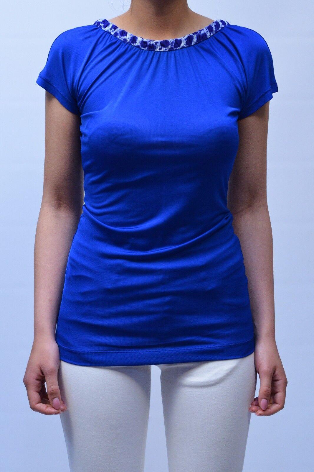 T-SHIRT JUST CAVALLI damen WOMAN ФУТБОЛКА, NC0013N20027 Blau MIS.L PP 12