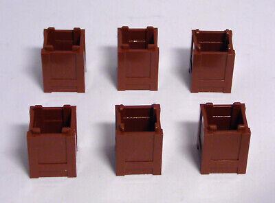 LEGO 6 x Kiste 2x2 Mülltonne Container Ladegut rotbraun NEU
